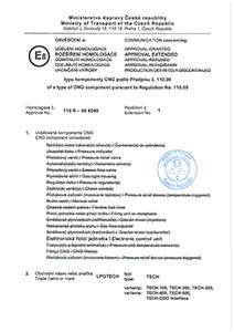 Homologation 110R-00 6045