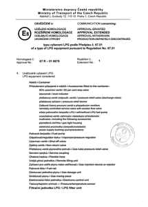 Homologation 67 R - 01 6679